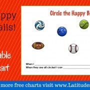 Circle the Happy Balls Behavior Chart