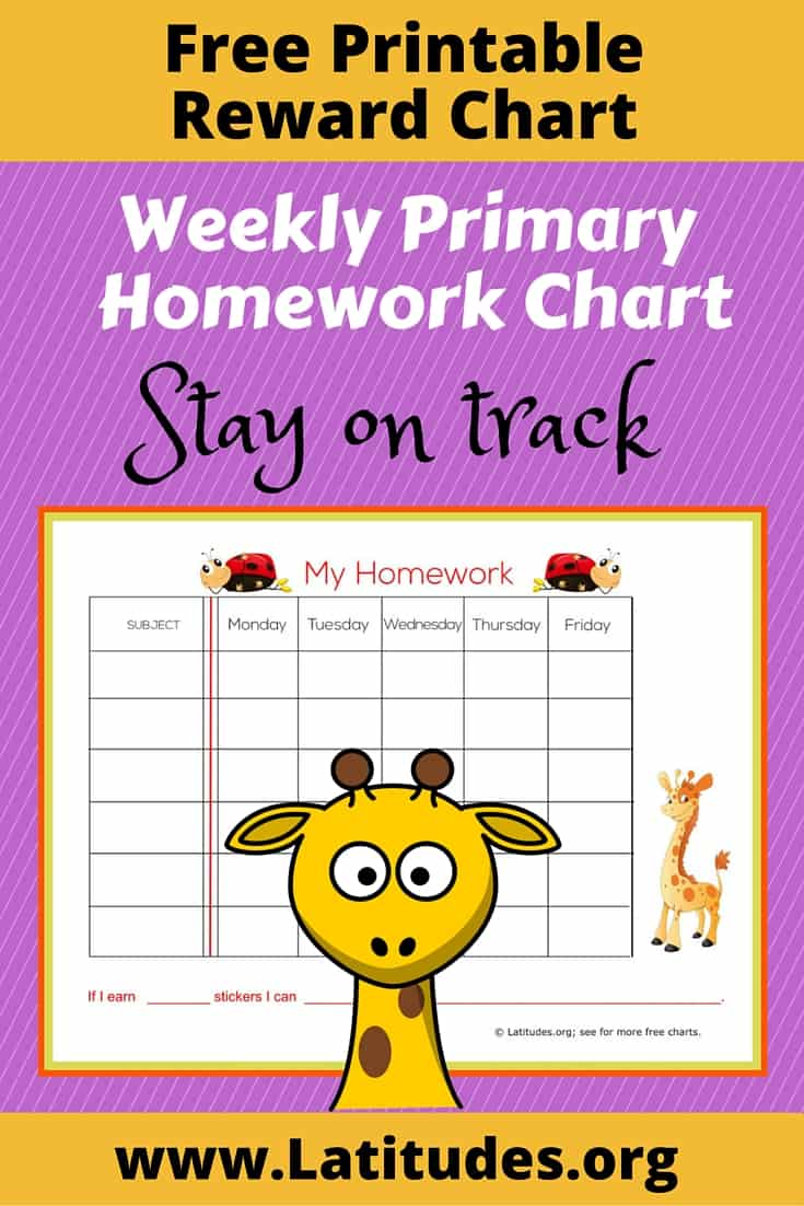 image relating to Printable Homework Chart identify No cost Weekly Research Sticker Chart (Most important) ACN Laudes