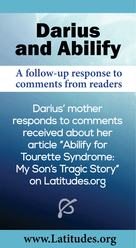 Darius Abilify for Tourette's Syndrome Comments Followup