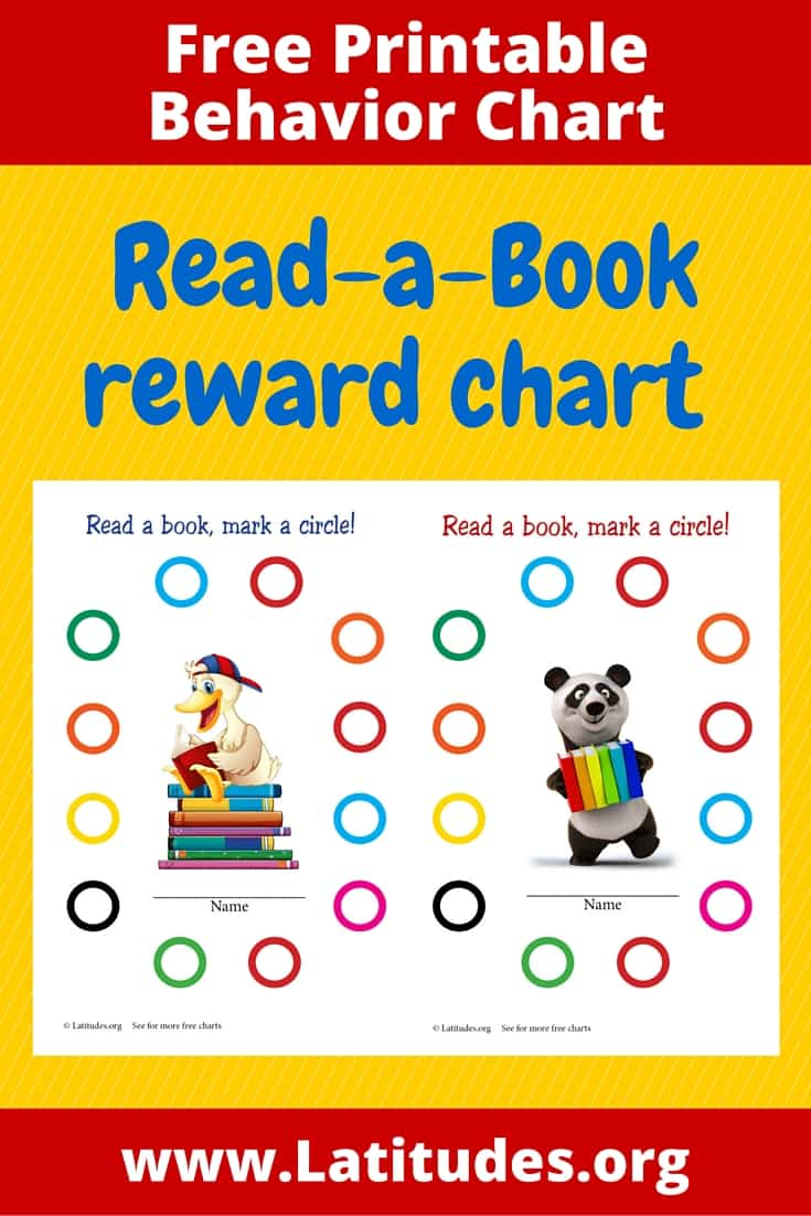 Read a Book Reward Chart Pinterest