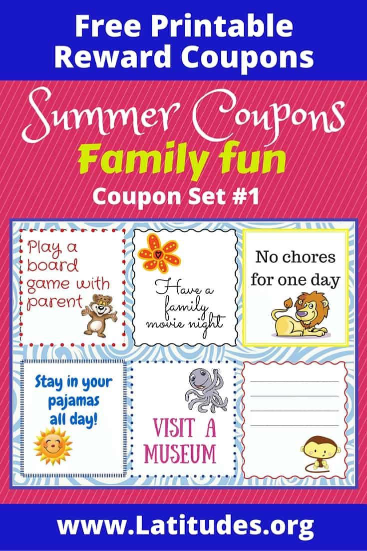 Summer Coupons Family Fun Pinterest