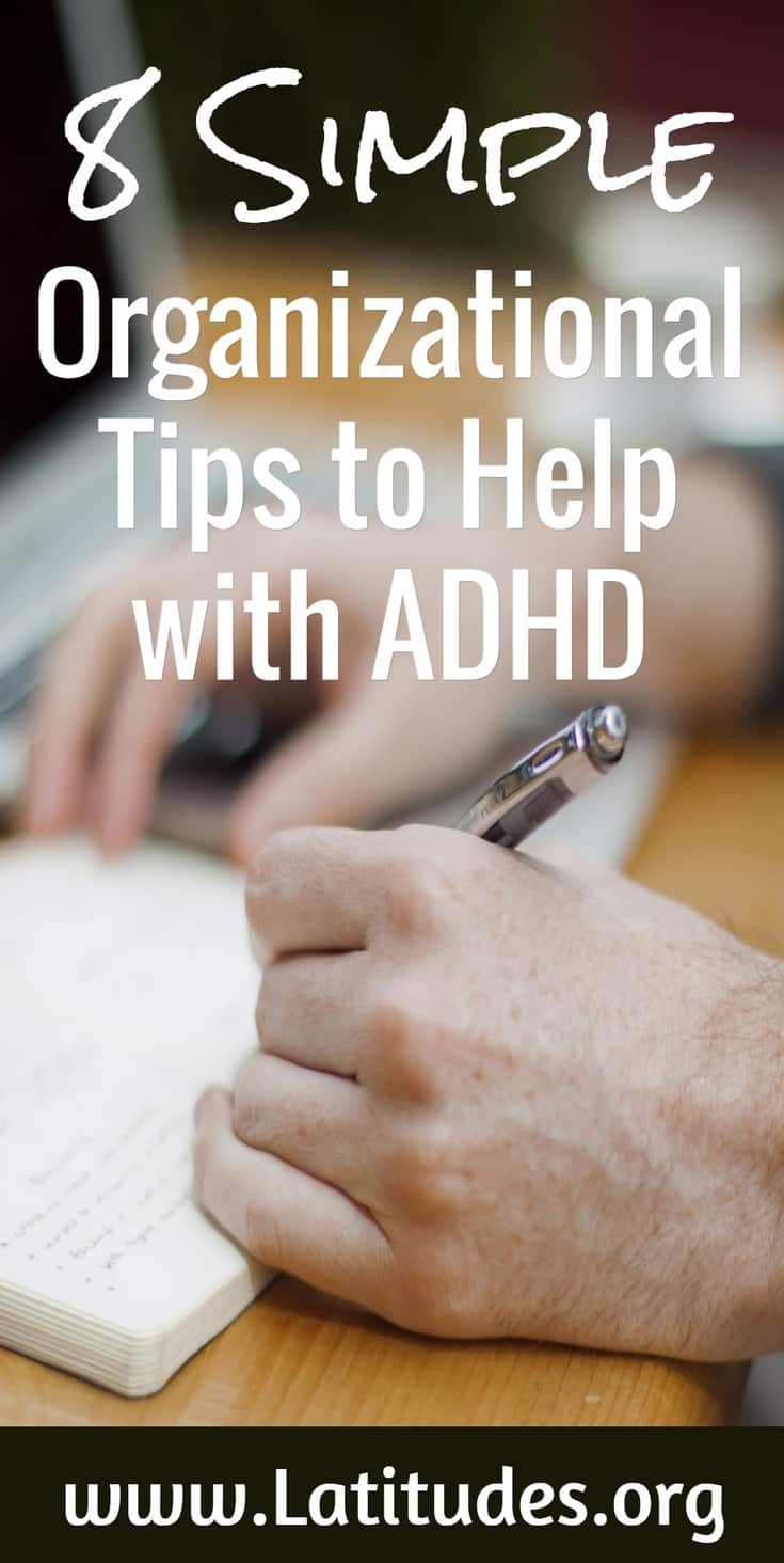 8 Simple Organizational Tips to Help with ADHD
