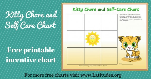 Kitty Chore and Self Care Incentive Chart WordPress