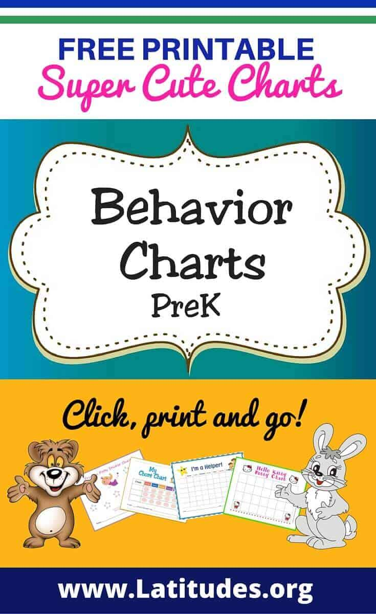 Behavior Charts Prek Pinterest