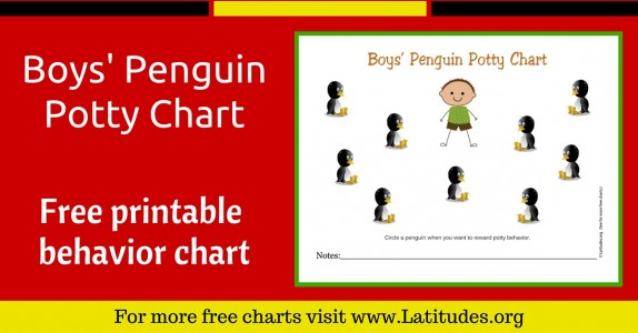 Boys Penguin Potty Chart