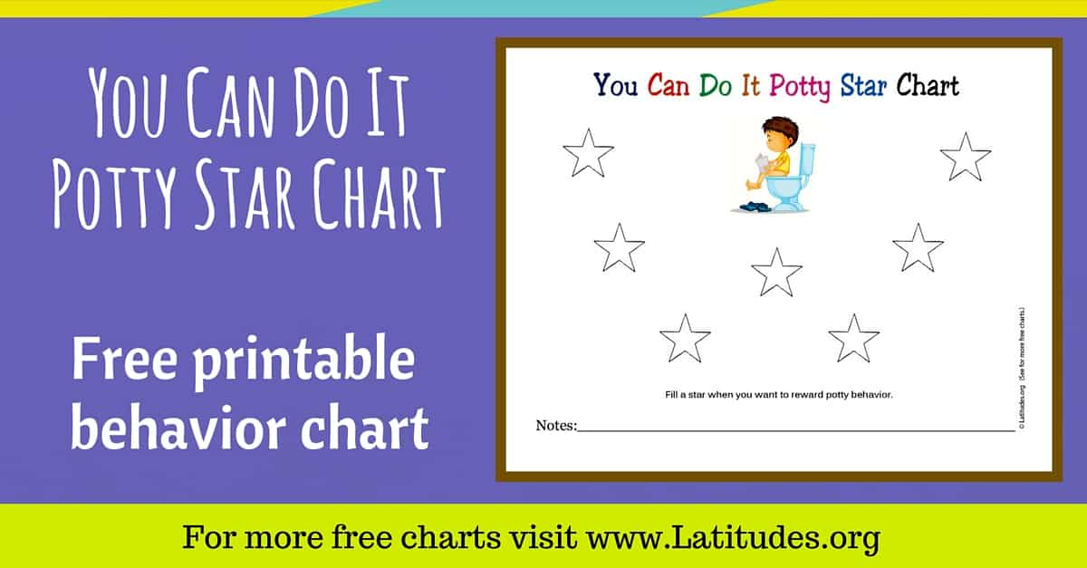FREE Potty Star Chart You Can Do It ACN Latitudes