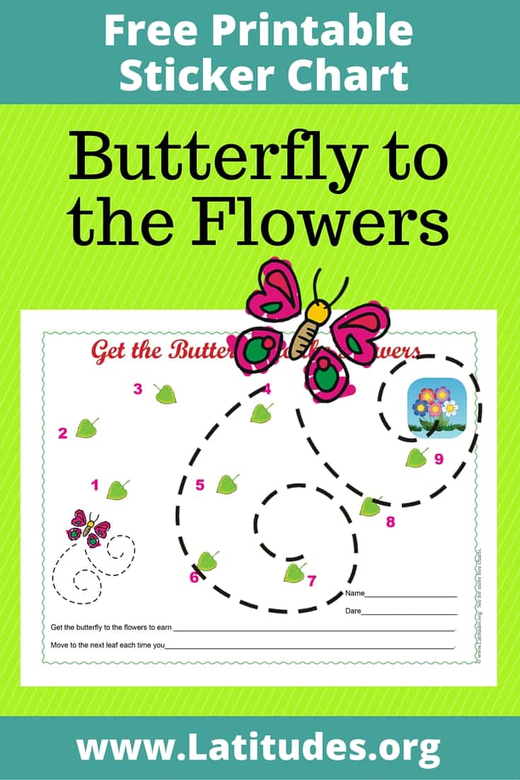 Butterfly to the Flowers Behavior Chart Pinterest
