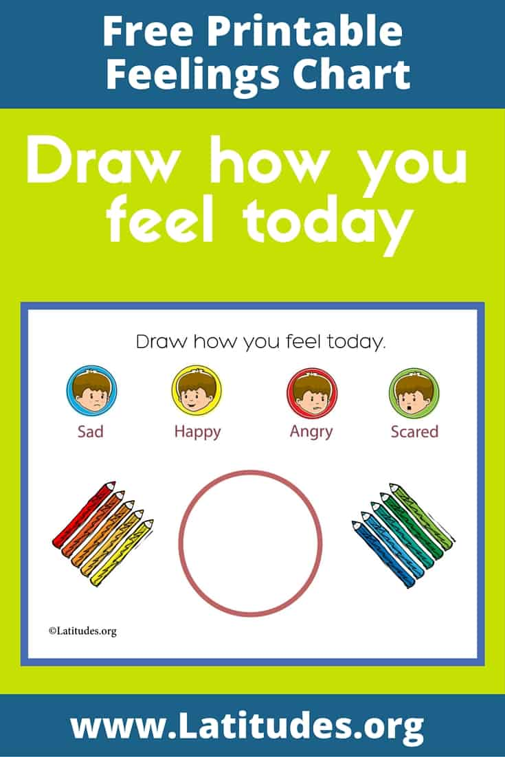 Draw how you feel today simple chart Pinterest