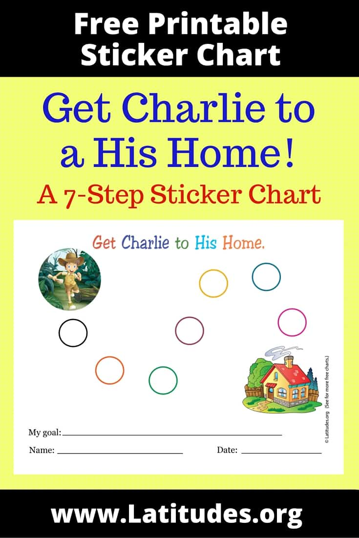 Get Charlie to His Home 7-Step Sticker Chart Pinterest