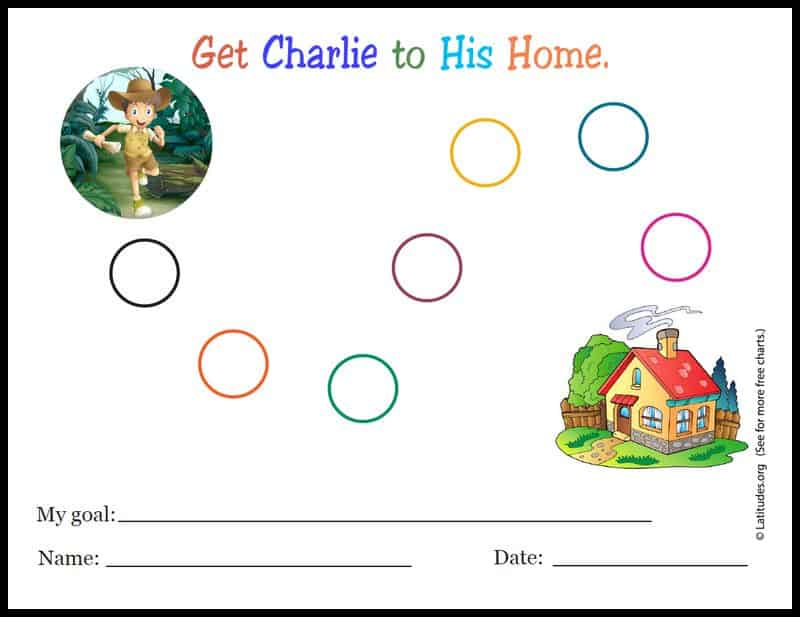 Get Charlie to Home Sticker Chart Border