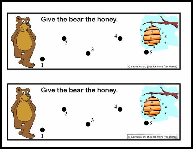 Give Bear Honey Behavior Chart Border