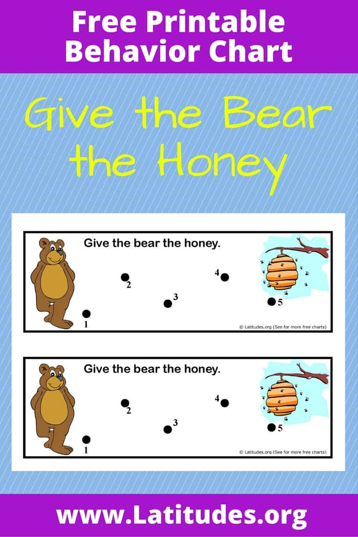 Give the Bear the Honey Behavior Chart Pinterest