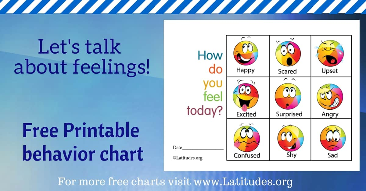 Free Feelings Chart  How Do You Feel Today Colorful  Acn Latitudes