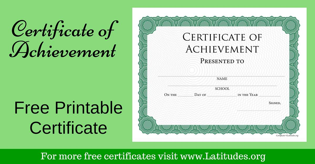 ACN Latitudes  Free Certificate Of Achievement