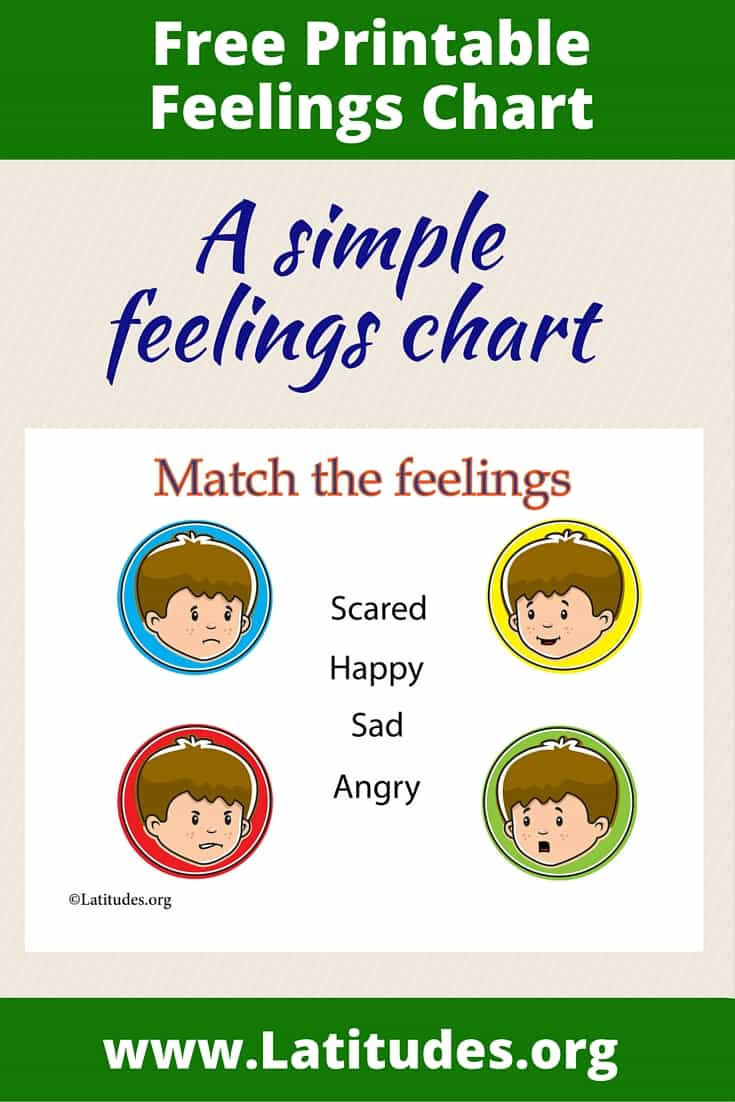 Match the feelings chart Simple Pinterest