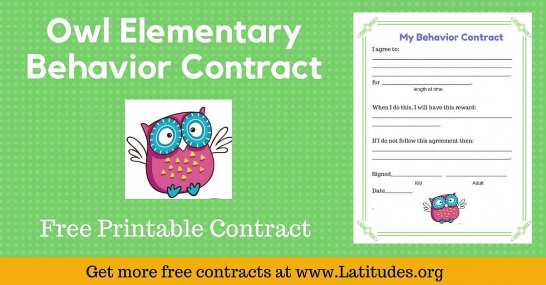 Owl Behavior Contract Wordpress