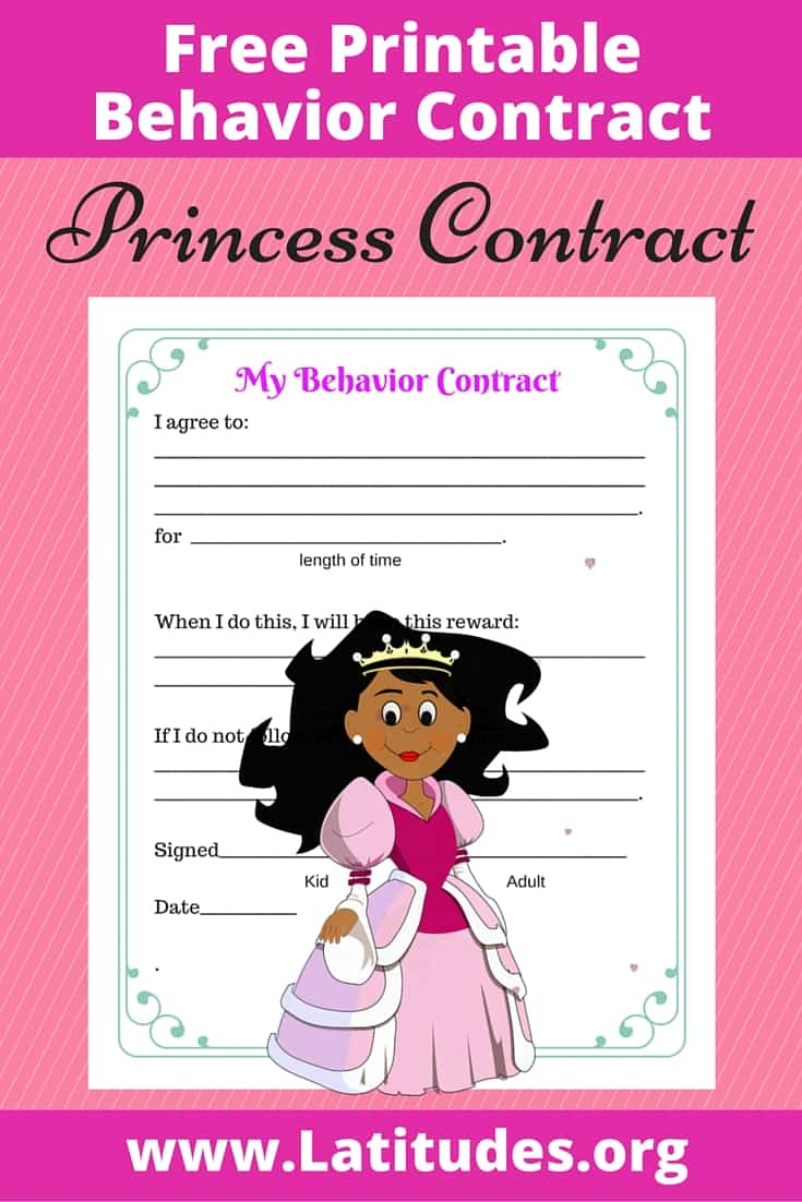 Princess Behavior Contract Pinterest