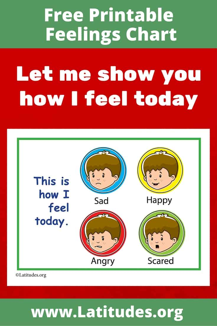 Simple Let Me Show You How I Feel Today Chart Pinterest