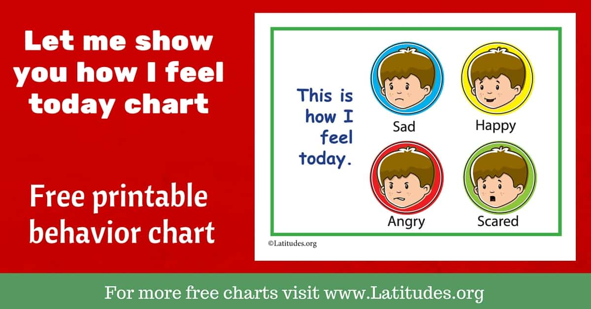Free Feelings Chart  This Is How I Feel Today Simple  Acn Latitudes