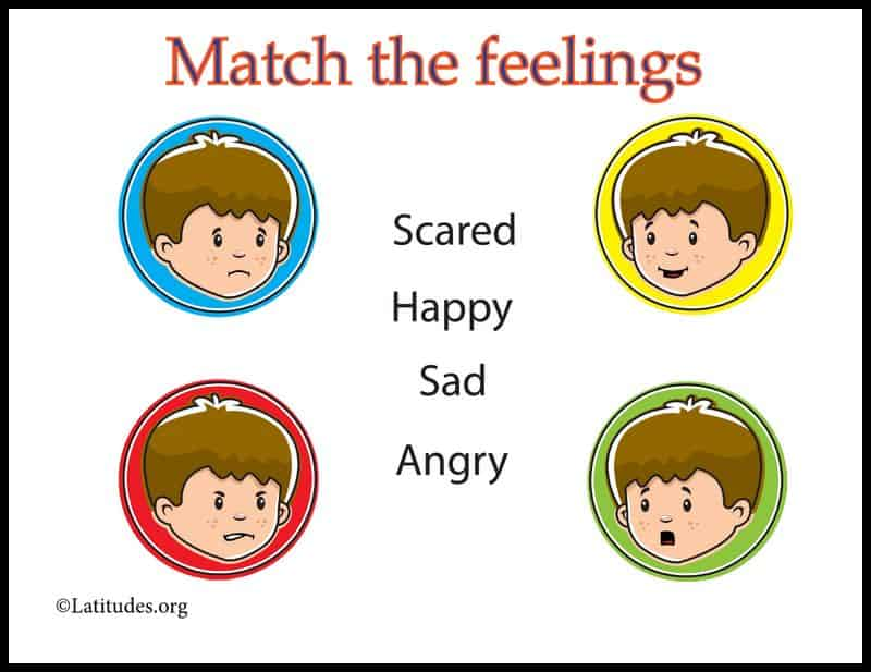 Simple Match the Feelings Chart Border