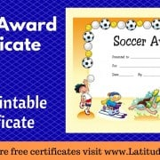Soccer Award Certificate WordPress