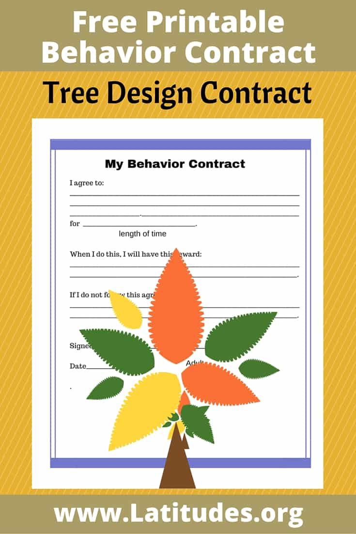 Tree Behavior Contract Pinterest