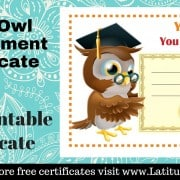 Wise Owl Achievement Certificate WordPress