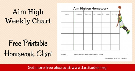 Aim High Weekly Homework Chart WordPress