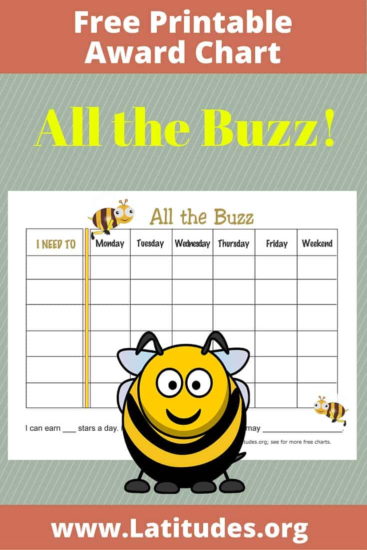 All the Buzz Weekly Award Chart Pinterest