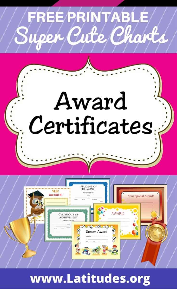 free printable award certificates for teachers  u0026 students