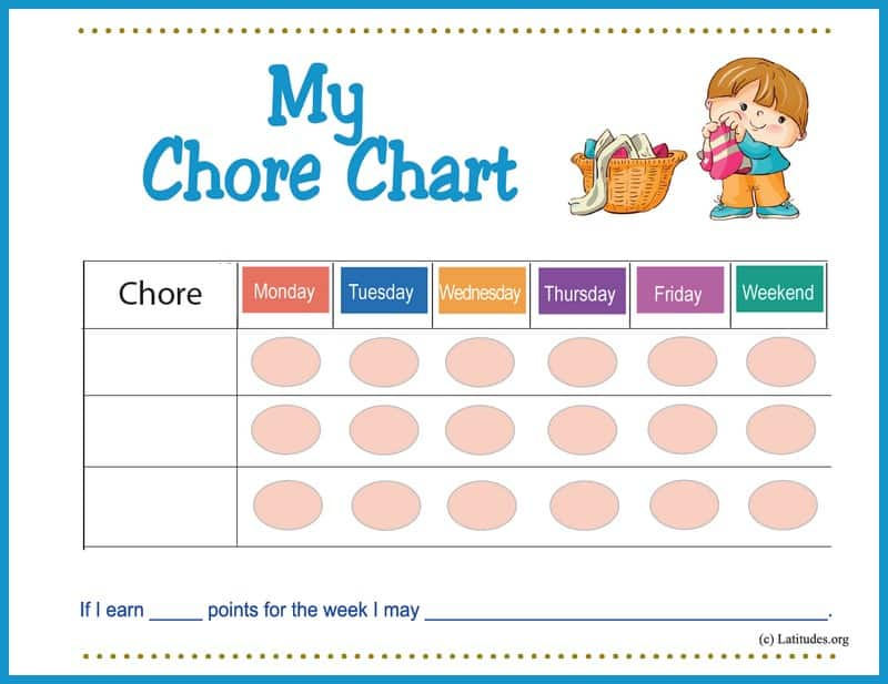 Boy's First Chore Chart Border