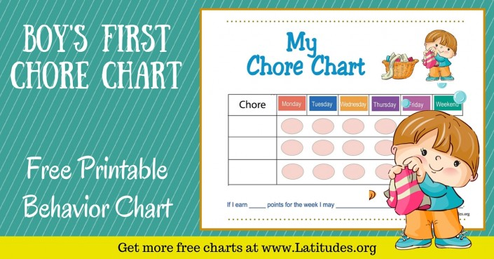 Boy's First Chore Chart WordPress