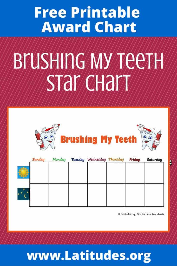 Brushing My Teeth Star Chart Pinterest