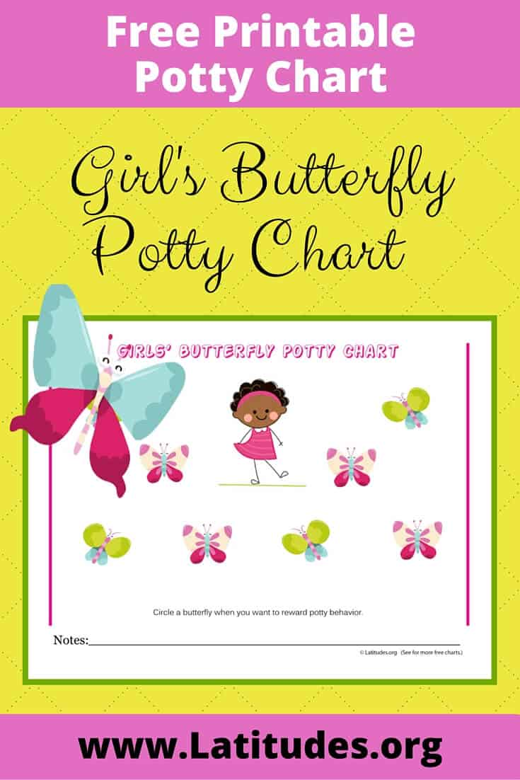 Girls Butterfly Potty Chart Pinterest