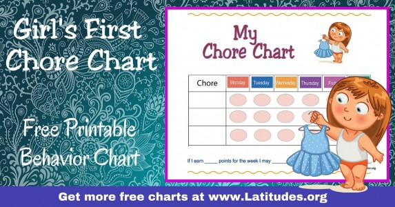 Girl's First Chore Chart WordPress