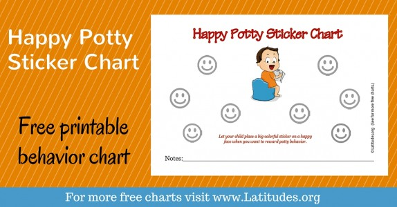 Happy Potty Sticker Chart WordPress