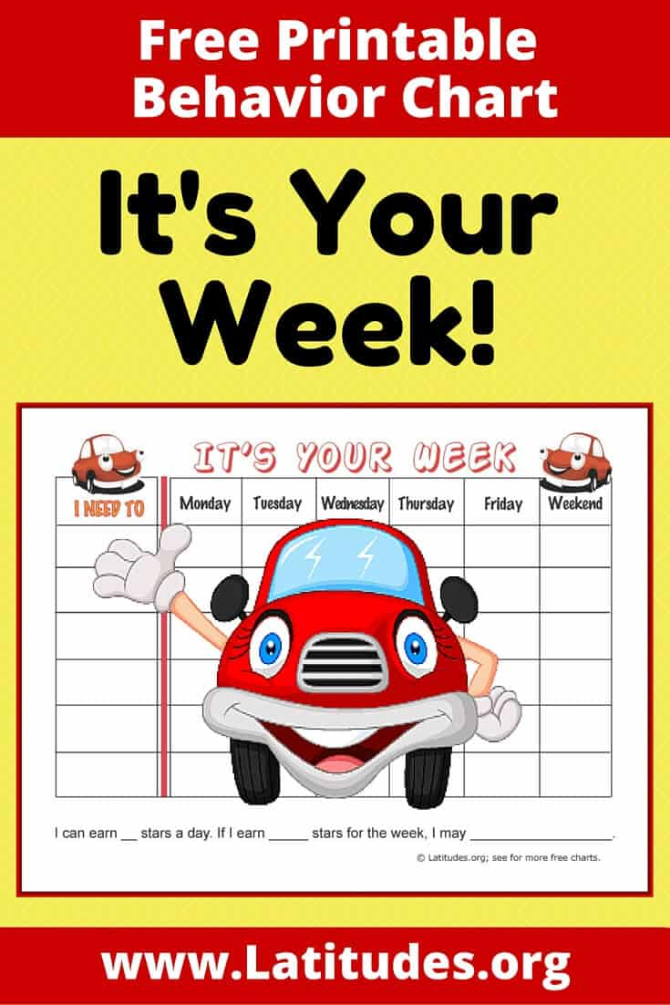 It's Your Week Behavior Chart Pinterest
