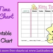 Kitty Time Weekly Routine Chart WordPress