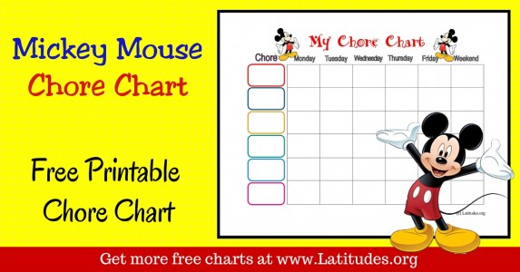 Mickey Weekly Chore Chart WordPress