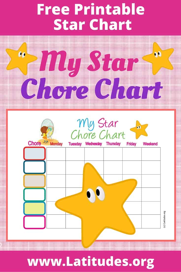 My Star Chore Chart Pinterest