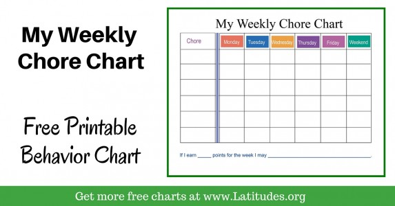 My Weekly Chore Chart Intermediate WordPress