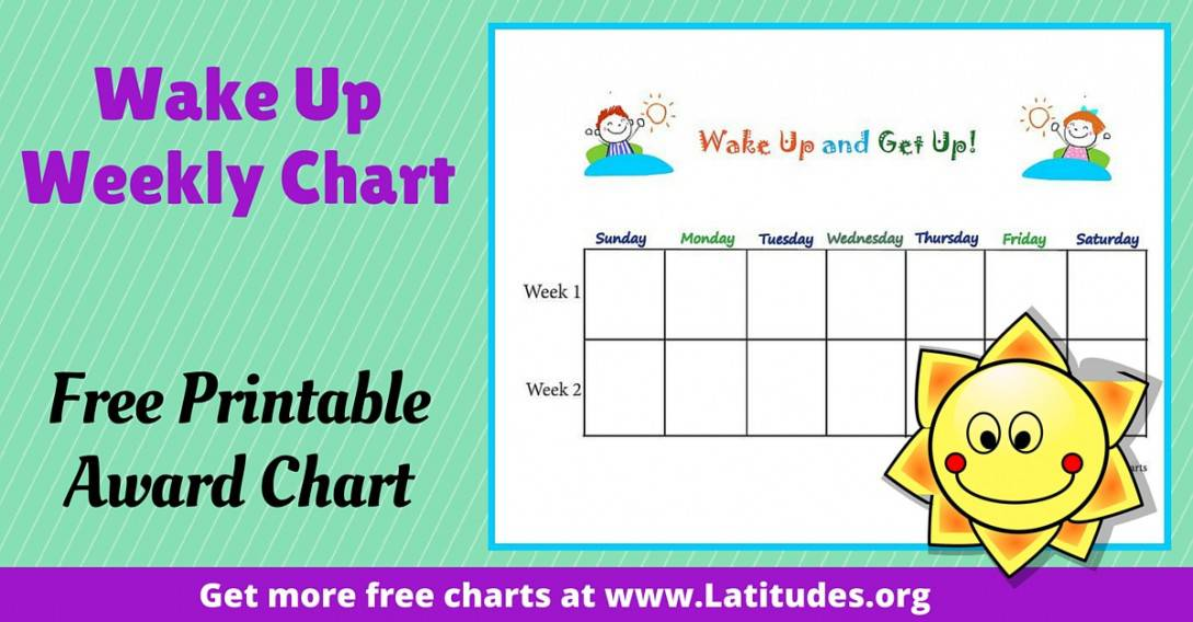 Primary Wake Up and Get Up Chart WordPress