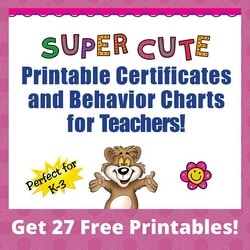 Free Printable Certificates and Behavior Charts for Teachers