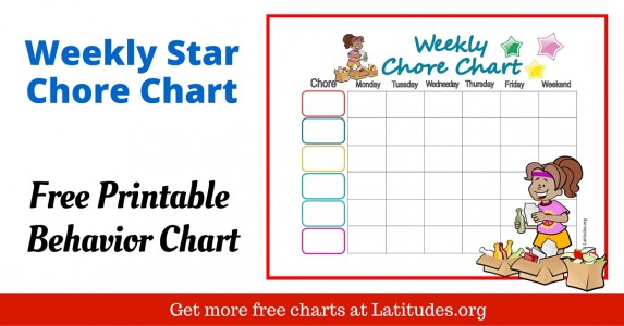 Weekly Star Chore Chart WordPress