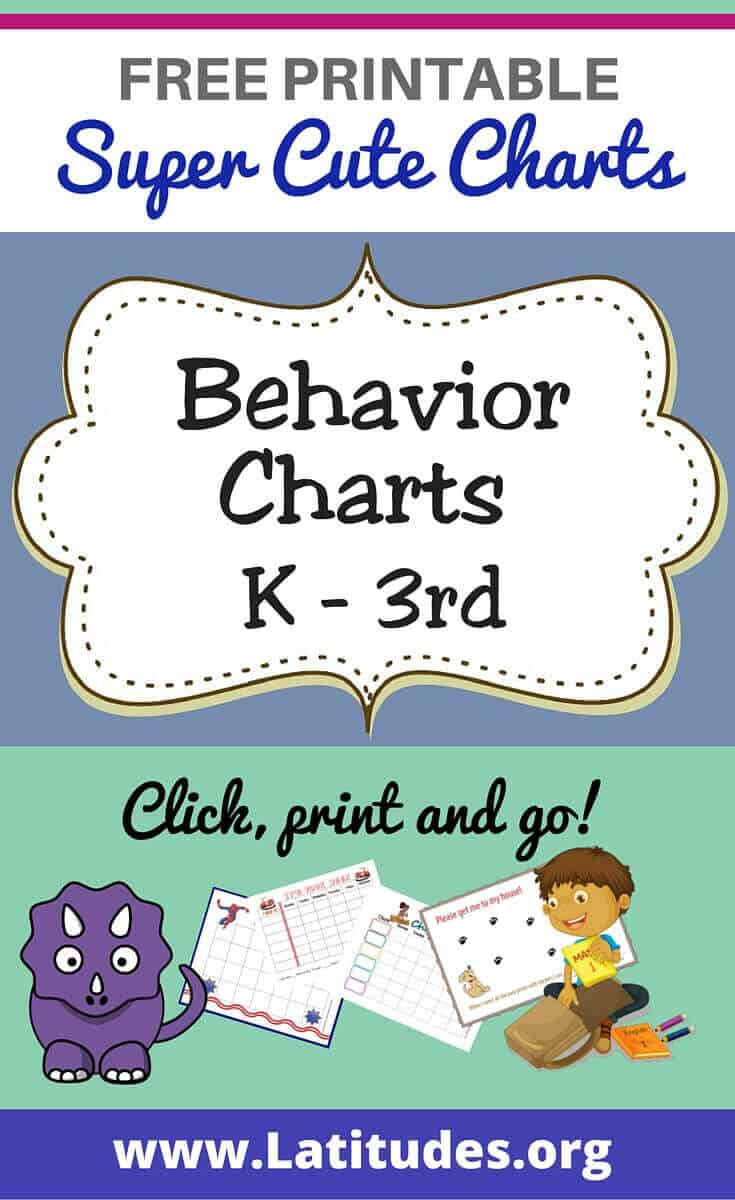 Behavior Charts (K - 3rd) Pinterest