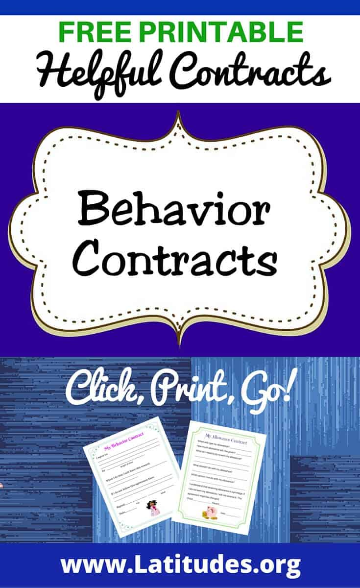 FREE Printable Behavior Contracts for Students | ACN Latitudes