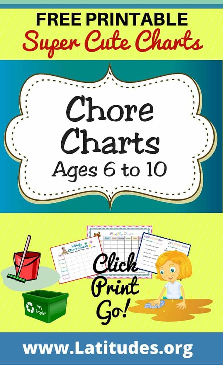 Chore Charts Ages 6 to 10 Pinterest