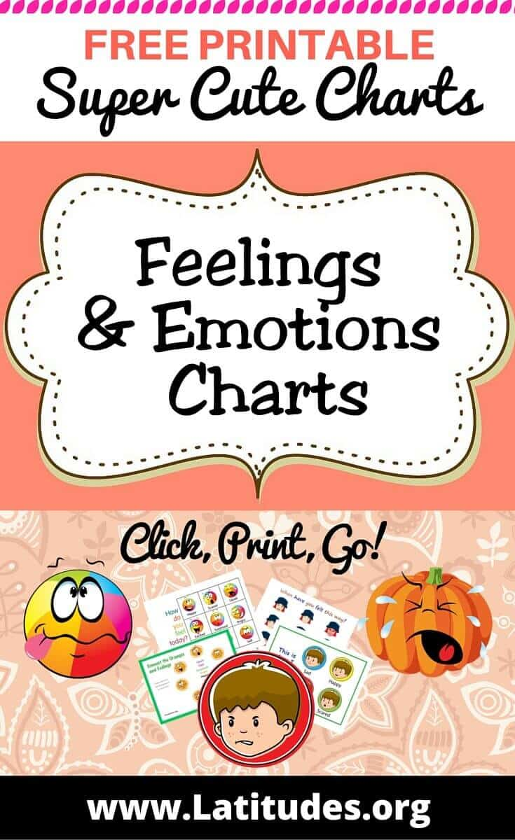 FREE Printable Feelings & Emotions Charts for Teachers & Students