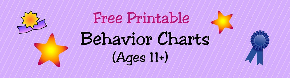 Header Behavior Charts Ages 11+