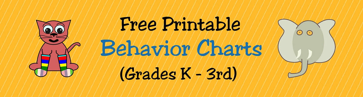 Free Printable Behavior Charts For Teachers  Students Kindergarten
